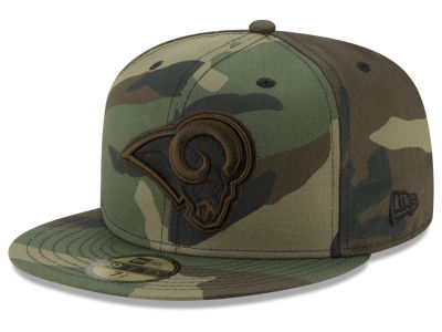 Los Angeles Rams New Era NFL Woodland Prism Pack 59FIFTY Cap