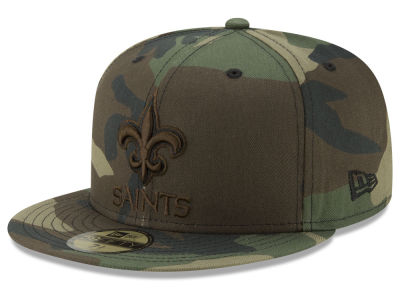 New Orleans Saints New Era NFL Woodland Prism Pack 59FIFTY Cap