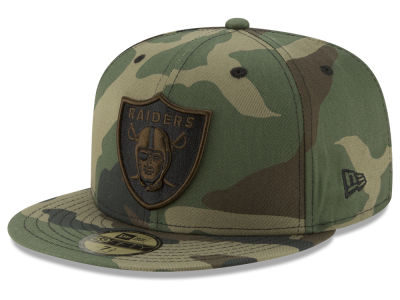Oakland Raiders New Era NFL Woodland Prism Pack 59FIFTY Cap