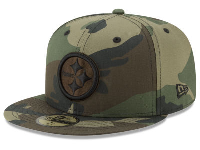 Pittsburgh Steelers New Era NFL Woodland Prism Pack 59FIFTY Cap