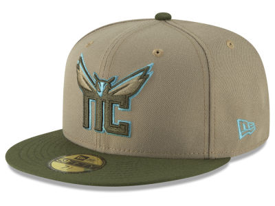 Charlotte Hornets New Era NBA Fall 2 Tone Combo 59FIFTY Cap