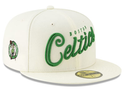 Boston Celtics New Era NBA Jersey Script 59FIFTY Cap