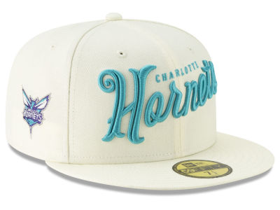 Charlotte Hornets New Era NBA Jersey Script 59FIFTY Cap