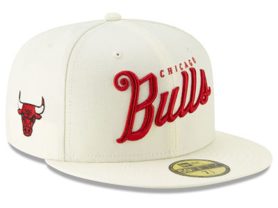 Chicago Bulls New Era NBA Jersey Script 59FIFTY Cap