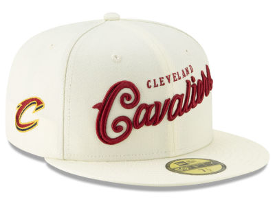 Cleveland Cavaliers New Era NBA Jersey Script 59FIFTY Cap