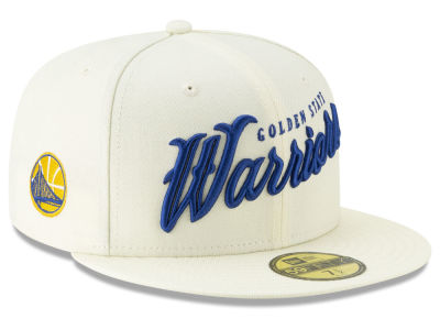 Golden State Warriors New Era NBA Jersey Script 59FIFTY Cap