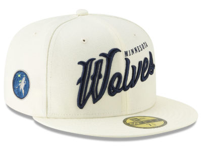 Minnesota Timberwolves New Era NBA Jersey Script 59FIFTY Cap