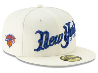 New York Knicks New Era NBA Jersey Script 59FIFTY Cap