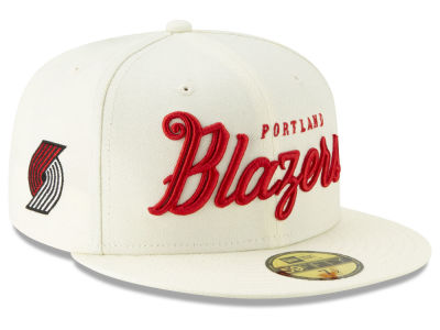 Portland Trail Blazers New Era NBA Jersey Script 59FIFTY Cap