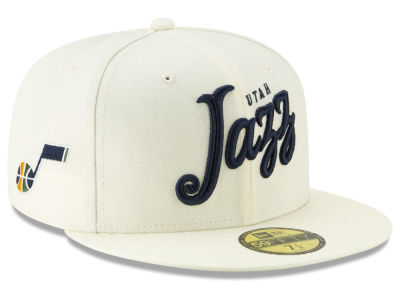 Utah Jazz New Era NBA Jersey Script 59FIFTY Cap