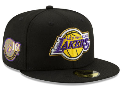 Los Angeles Lakers New Era NBA Champs Patch Remix 59FIFTY Cap