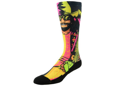 Macho Man Rock 'Em WWE Superstars Crew Socks