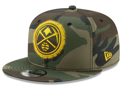 Denver Nuggets New Era NBA Overspray 9FIFTY Snapback Cap