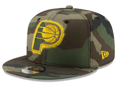 Indiana Pacers New Era NBA Overspray 9FIFTY Snapback Cap