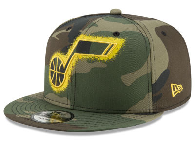 Utah Jazz New Era NBA Overspray 9FIFTY Snapback Cap