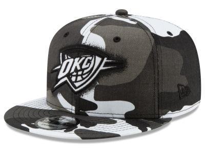 Oklahoma City Thunder New Era NBA Overspray 9FIFTY Snapback Cap dd8f096f953