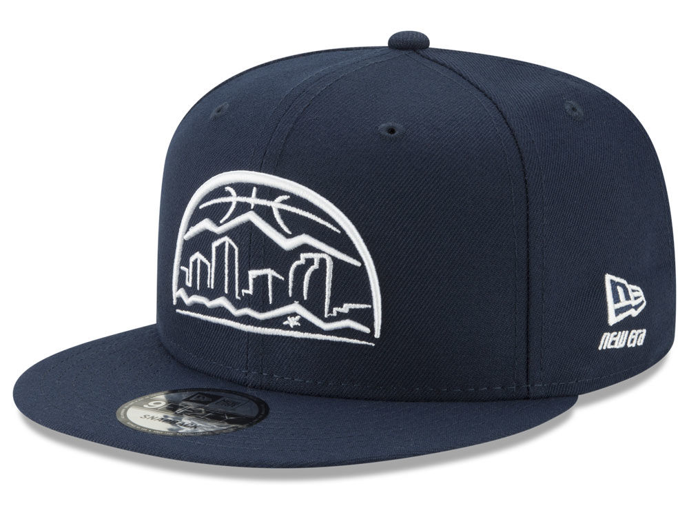new product a1408 a17be purchase denver nuggets new era nba logo trace 9fifty snapback cap 931ff  58b54