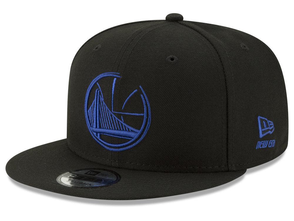 Golden State Warriors New Era NBA Logo Trace 9FIFTY Snapback Cap ... 773a66a3602