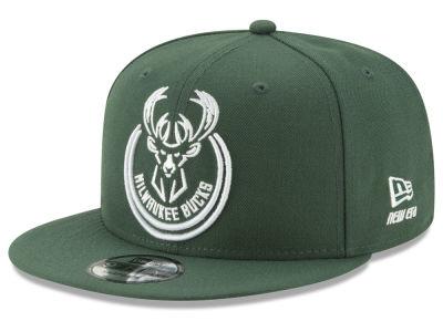 0fa53426185 Milwaukee Bucks New Era NBA Logo Trace 9FIFTY Snapback Cap