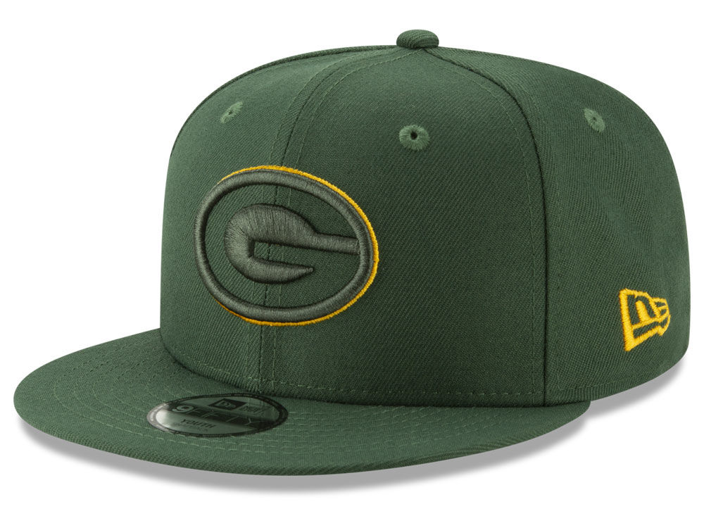 Green Bay Packers New Era NFL Youth Logo Elements Collection 9FIFTY  Snapback Cap  a2e8a4b7fb3