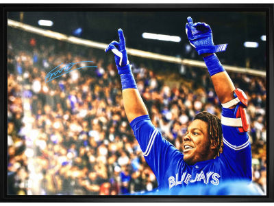 Toronto Blue Jays Vladimir Guerrero Jr. Frameworth MLB Signed 20x29 Framed Canvas