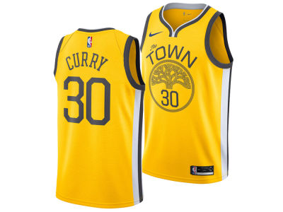 Golden State Warriors Stephen curry Nike 2018 NBA Youth Earned Edition Swingman Jersey