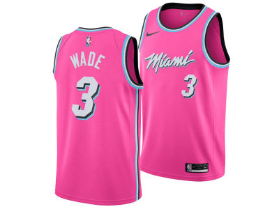 Miami Heat Dwyane Wade Nike 2018 NBA Youth Earned Edition Swingman Jersey