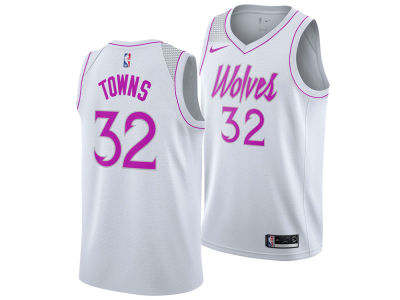 Minnesota Timberwolves Karl-Anthony Towns Nike 2018 NBA Youth Earned Edition Swingman Jersey