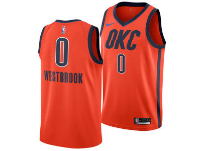 Oklahoma City Thunder Russell Westbrook Nike 2018 NBA Youth Earned Edition Swingman Jersey