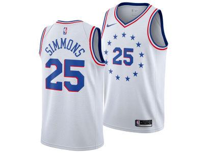 Philadelphia 76ers Ben Simmons Nike 2018 NBA Youth Earned Edition Swingman  Jersey ac55b5c7f
