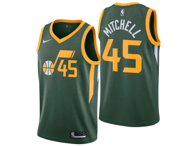 Utah Jazz Donovan Mitchell Nike 2018 NBA Youth Earned Edition Swingman Jersey