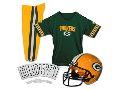 Green Bay Packers Franklin NFL Kids Deluxe Football Uniform Small Set