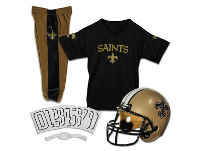 New Orleans Saints Franklin NFL Kids Deluxe Football Uniform Small Set