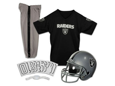 Oakland Raiders Franklin NFL Kids Deluxe Football Uniform Small Set