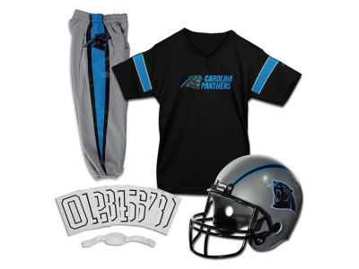 Carolina Panthers Franklin NFL Kids Deluxe Football Uniform Small Set