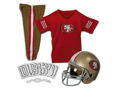 San Francisco 49ers Franklin NFL Youth Deluxe Football Uniform Medium Set