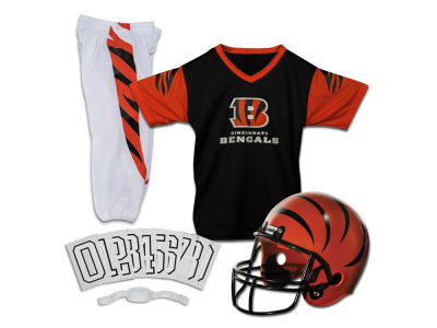 Cincinnati Bengals Franklin NFL Youth Deluxe Football Uniform Medium Set