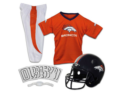Denver Broncos Franklin NFL Youth Deluxe Football Uniform Medium Set