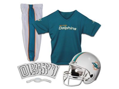 Miami Dolphins Franklin NFL Youth Deluxe Football Uniform Medium Set