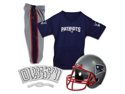 New England Patriots Franklin NFL Youth Deluxe Football Uniform Medium Set