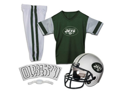 New York Jets Franklin NFL Youth Deluxe Football Uniform Medium Set
