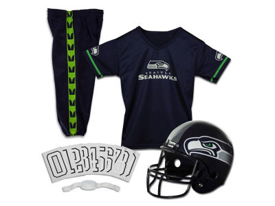 Seattle Seahawks Franklin NFL Youth Deluxe Football Uniform Medium Set