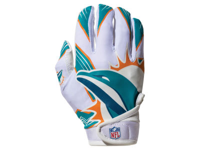 Miami Dolphins Franklin NFL Youth Football Receiver Gloves