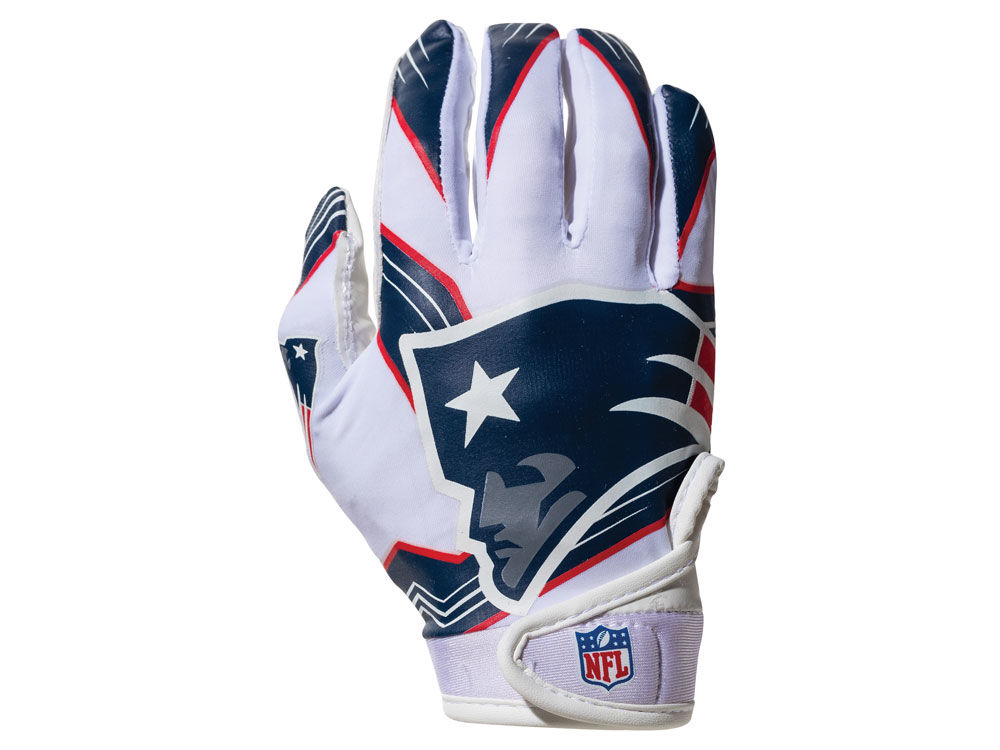 a002c1b90b7 New England Patriots Franklin NFL Youth Football Receiver Gloves ...