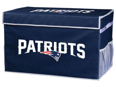 New England Patriots Franklin NFL Collapsible Storage Footlocker Bins - Large