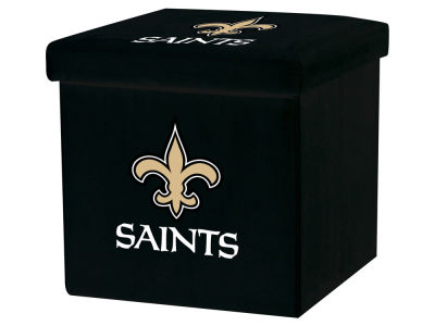 New Orleans Saints Franklin NFL Storage Ottoman with Detachable Lid
