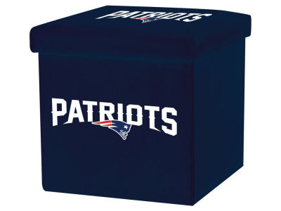 New England Patriots Franklin NFL Storage Ottoman with Detachable Lid