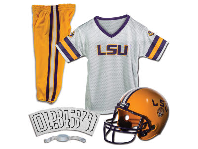 LSU Tigers Franklin NCAA Kids Deluxe Football Uniform Set-Small