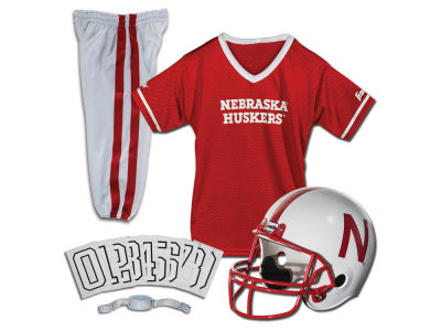 Nebraska Cornhuskers Franklin NCAA Kids Deluxe Football Uniform Set-Small