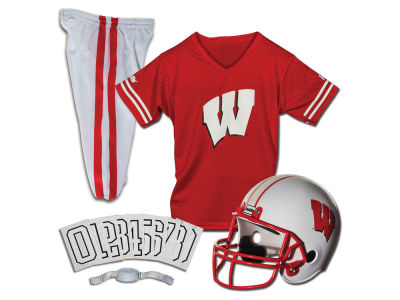 Wisconsin Badgers Franklin NCAA Kids Deluxe Football Uniform Set-Small